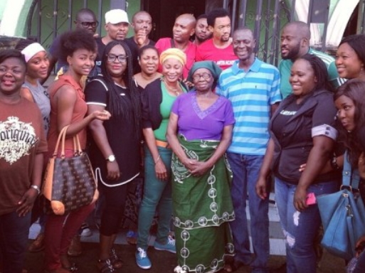 president jonathan mother nollywood visit
