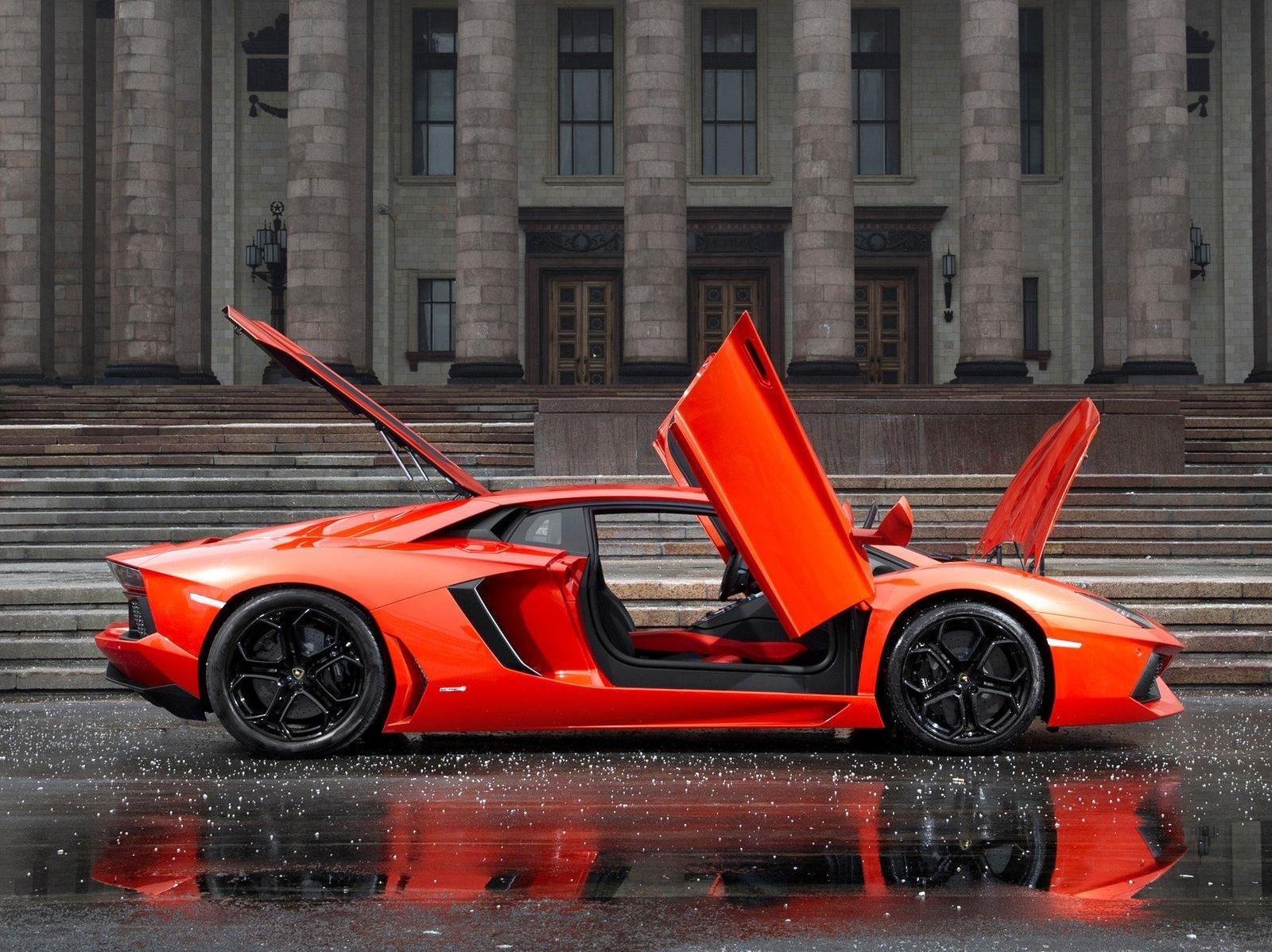 Lamborghini Aventador S First Drive. Four-wheel steer is the tech-du-jour but thus far no one has pushed it like Lamborghini ... the scissor doors ... & Lamborghini aventador red car lovely door open ~ Gallery ...