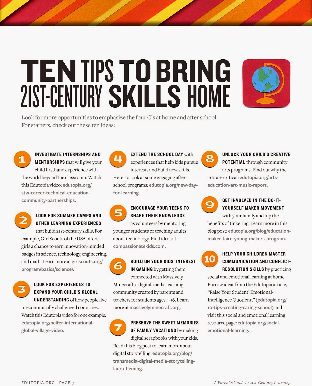 Parent's Guide to 21st Century Skillls