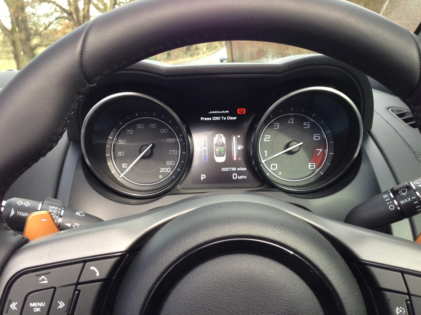 2014 Jaguar F-Type V8 S Convertible dials