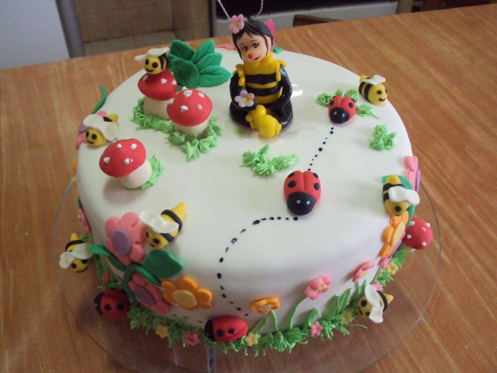 Vieiras Tortas Bolo infantil jardim Encantado das abelhas