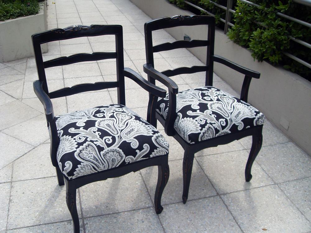 El hogar bricolgage y decoraci n muebles tapizados - Telas tapizar sillas ...