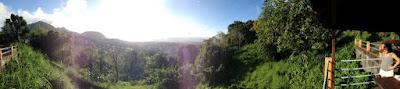 Vue panoramique depuis le carbet sur la route retour