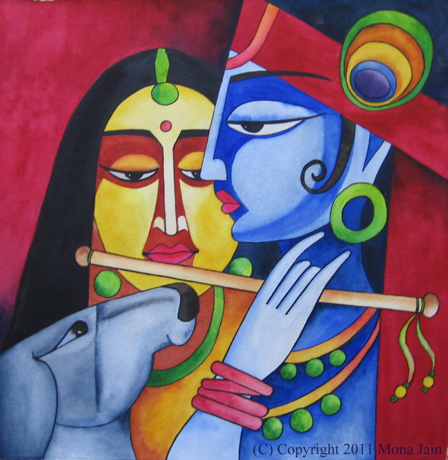Easy Lord Krishna And Radha Paintings Lord Krishna With Radha