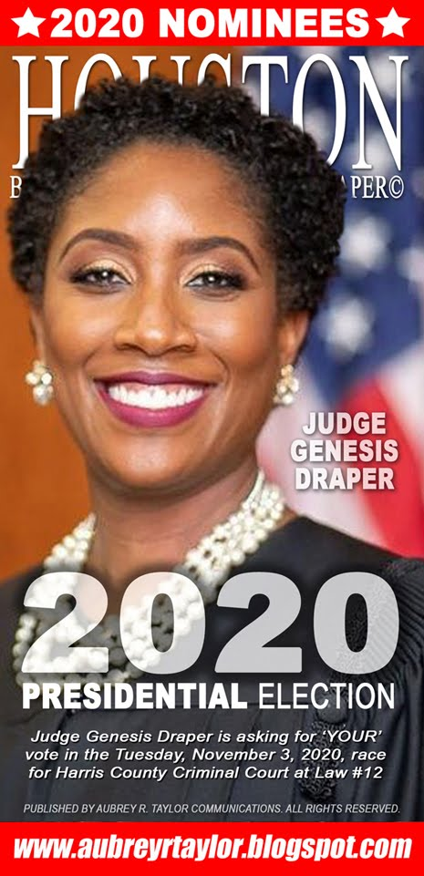 Judge Genesis Draper Values Your Vote, Prayers, and Support on Tuesday, November 3, 2020