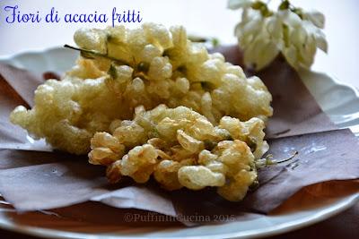 fiori di acacia fritti semplicemente sfiziosi