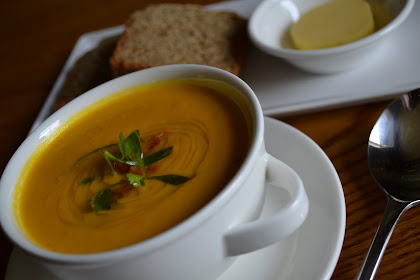 CARROT &amp; CORIANDER SOUP