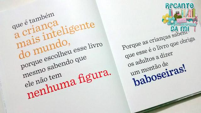 O livro sem figuras B J Novak Editora Intrínseca