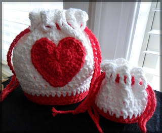 Handmade Valentine Red Heart Hand and Coin Purse Set From LilacsLovables on etsy