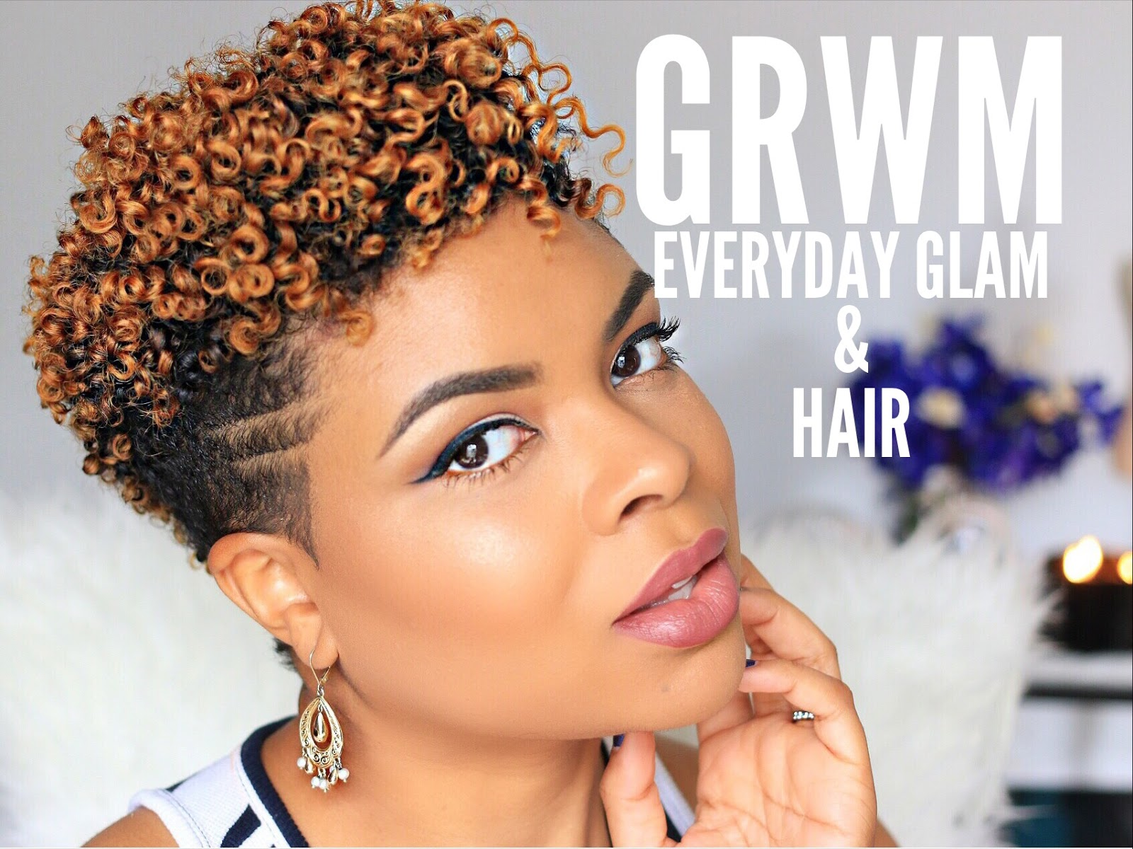 GRWM | Everyday Glam and Flat Twist Out
