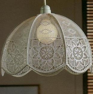 hobby lavori femminili ricamo uncinetto maglia copri lampadario. Black Bedroom Furniture Sets. Home Design Ideas