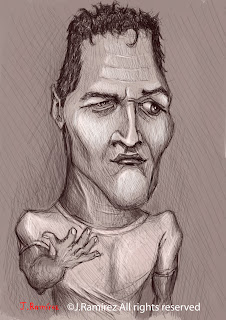 Paul Newman caricature