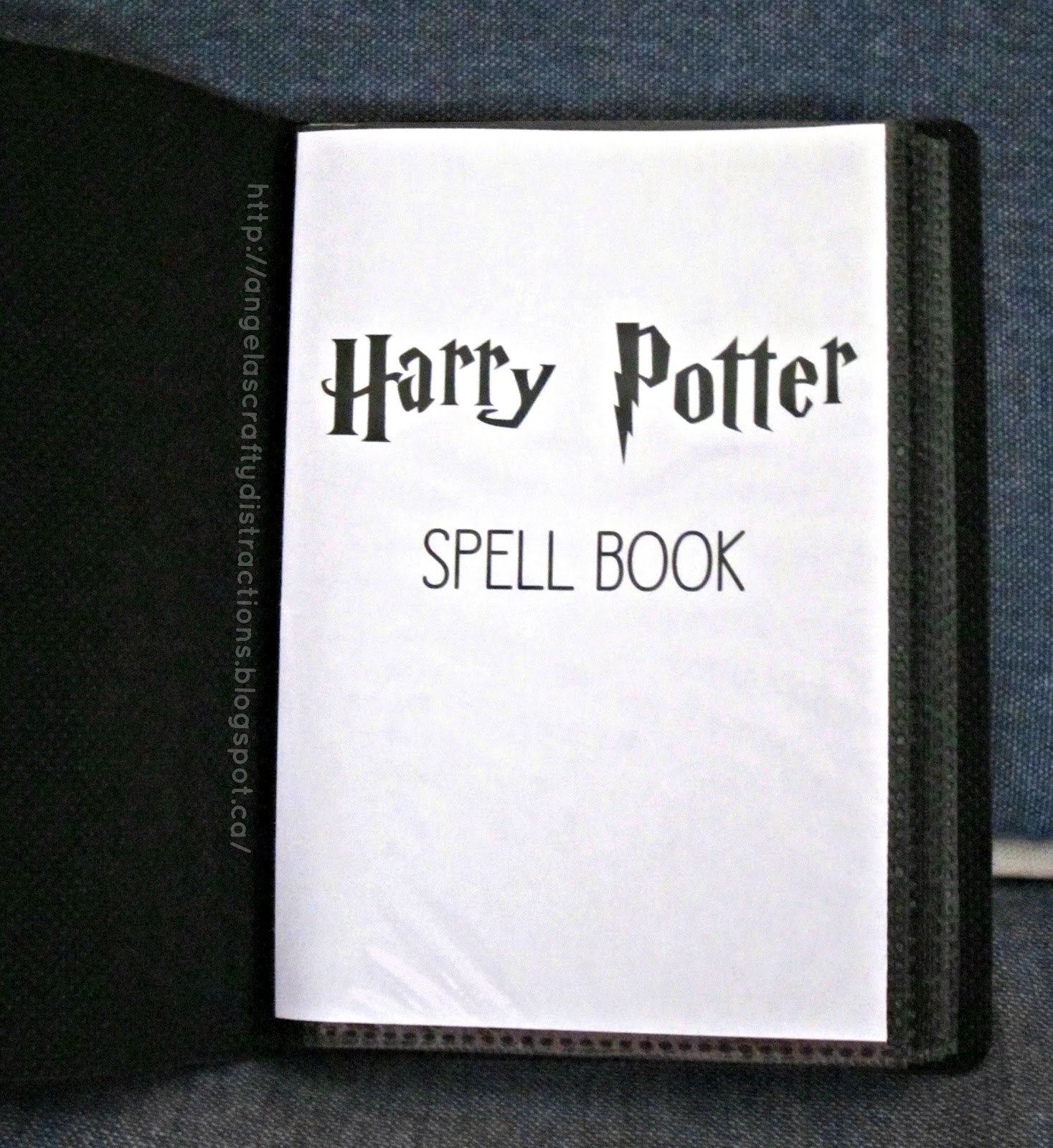 Harry Potter Book Is About ~ Crafty distractions a harry potter spell book