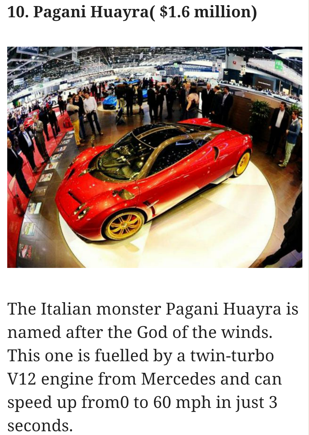news at your convenience: Most Expensive Cars In The World, 2016