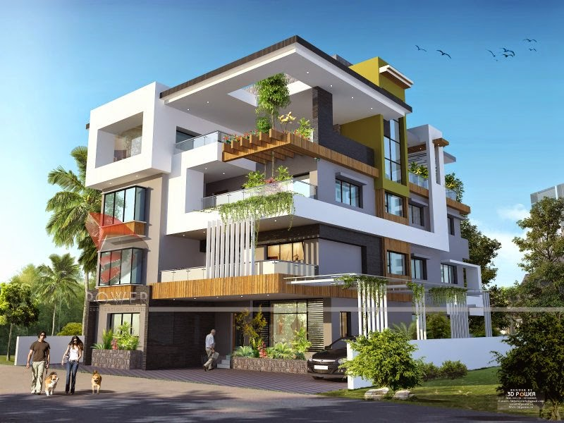Ultra modern home designs home designs house 3d for House structure design in india