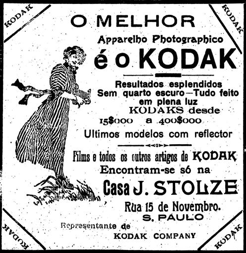 Propaganda de máquinas fotográficas Kodak de 1911.