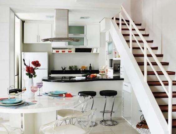 decoracao de sala e cozinha juntas simples:Cozinhas pequenas: charme e simplicidade – Amando Cozinhar – Receitas
