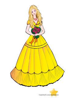 Princesa rubia de cuento