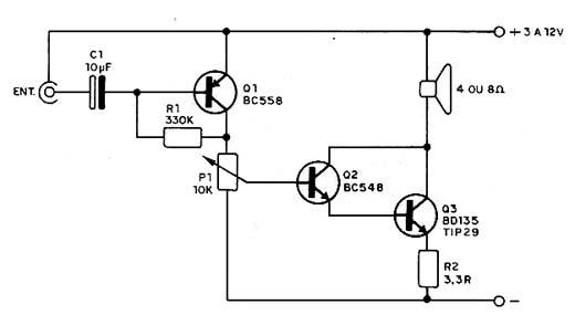 circuitos eletr u00f4nicos   amplificador f u00e1cil com transistor
