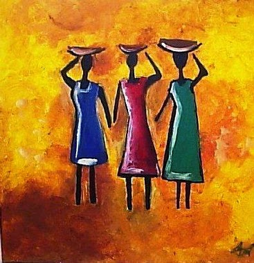african painting images