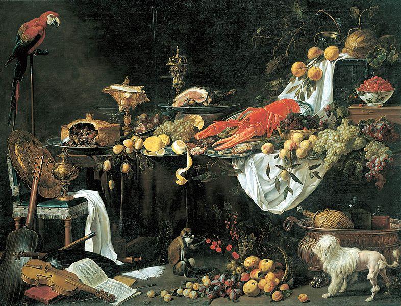 Dutch golden age still life by Utrecht with animals