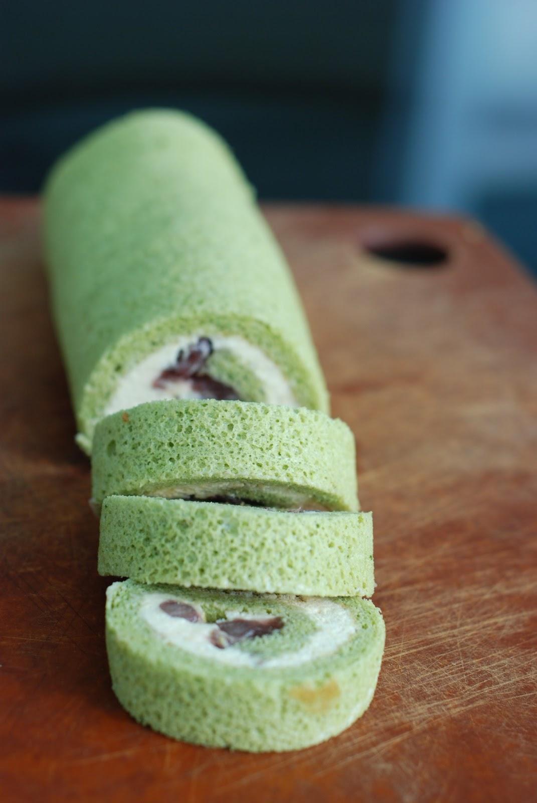 Cheap Matcha Roll Cake