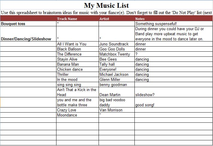 The Music That You Want To Play In Your Wedding Can Also Show It Band As Well So They Prepare Preferred Songs List