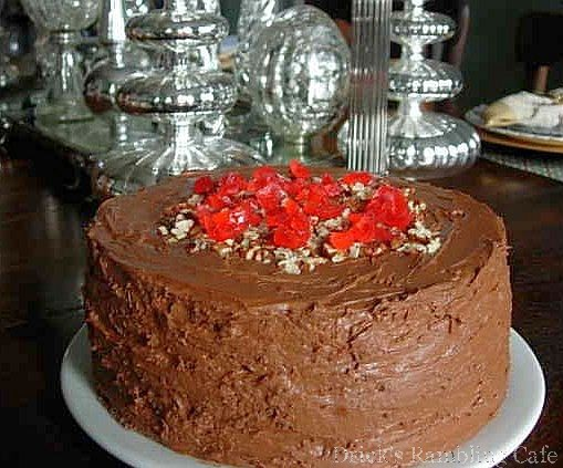 Brown Sugar Chocolate Cake with Fudge Icing ~ Drick's Rambling Cafe
