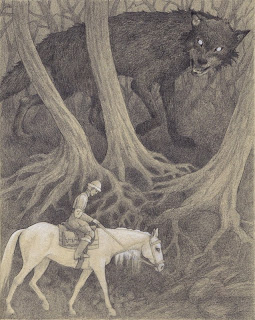 Ivan, the Firebird and the Grey Wolf, Firebird, Russian fairy tale, illustration, drawing