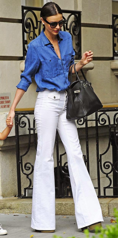 Moda de rua - Pantalonas e camisa de ganga