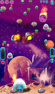 Screenshots of the Space brain defence for Android tablet, phone.