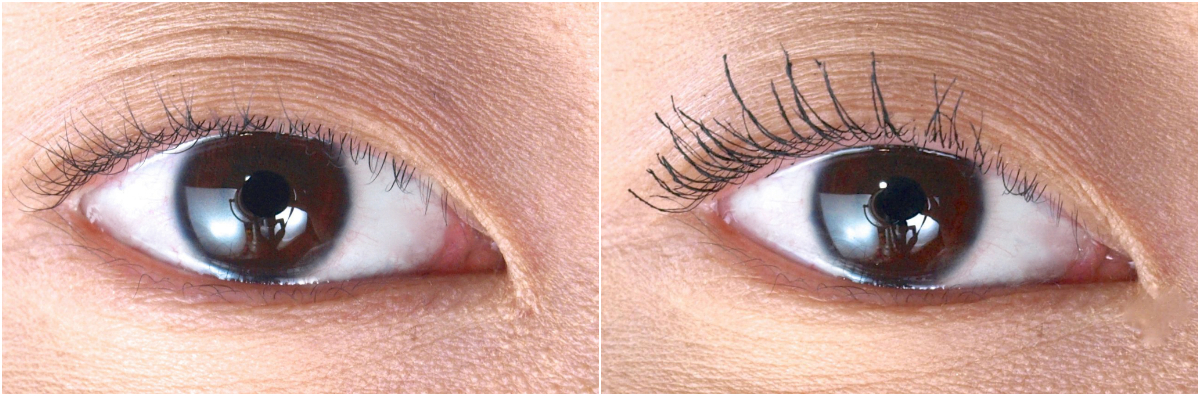 Fairy Drops Waterproof Platinum Mascara Before & After