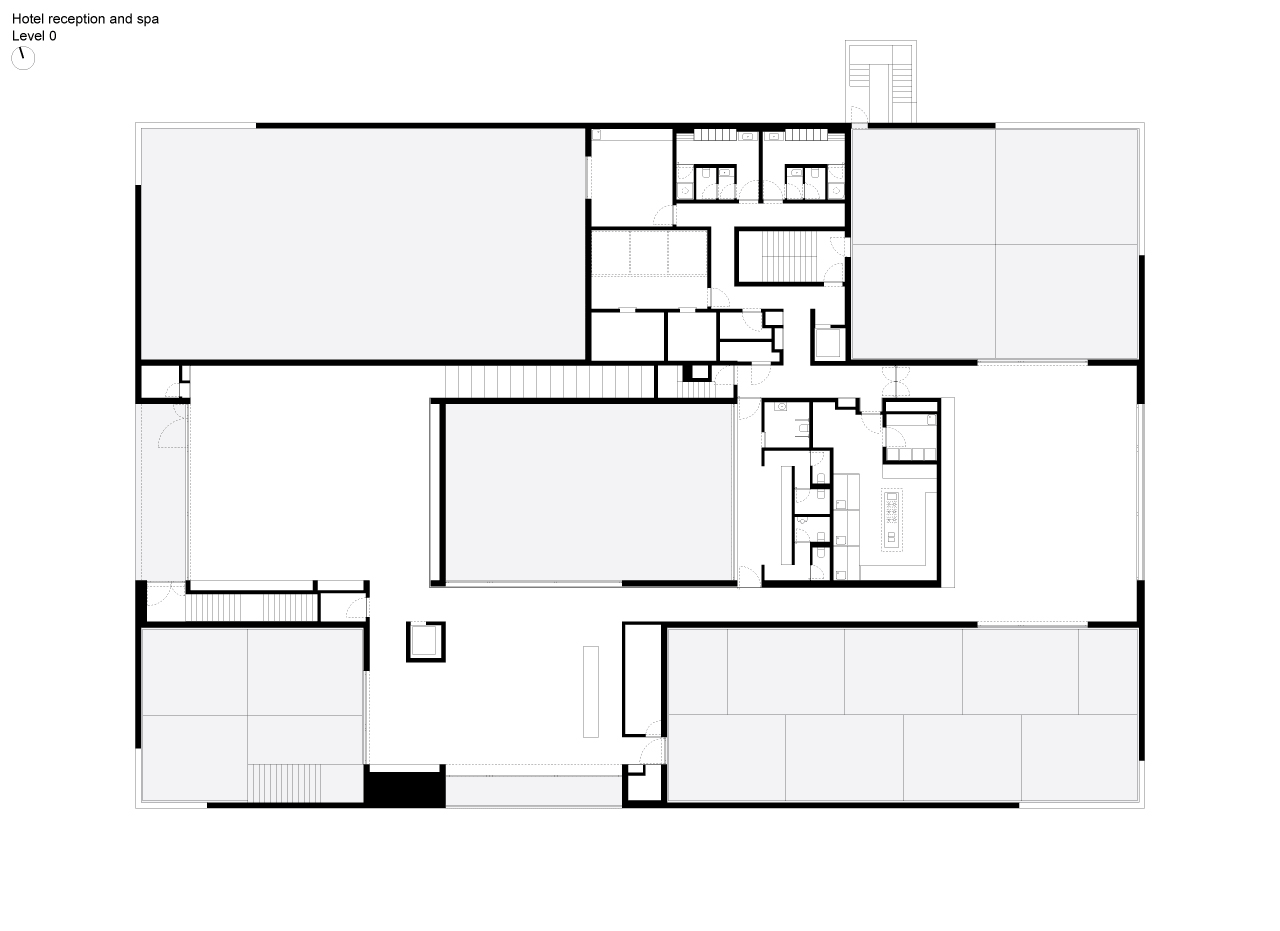 Floor plan of the main building