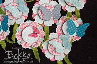Mixed Blossoms Fridge Magnets by Stampin' Up! Demonstrator Bekka Prideaux - check her blog for lots of great ideas