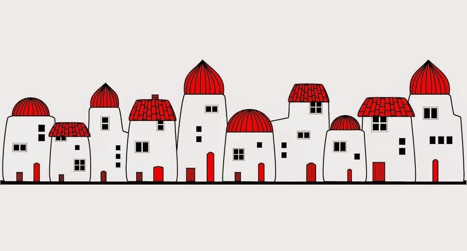 Poblado ilustrados por Coloretes