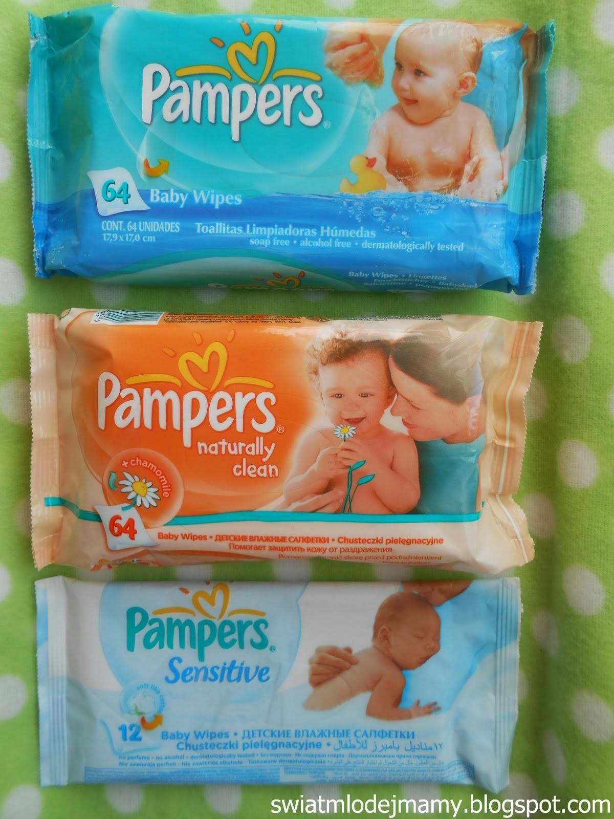 Chusteczki Pampers - porównanie