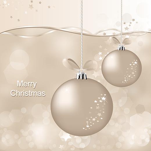 Bolas de navidad color perla - vector