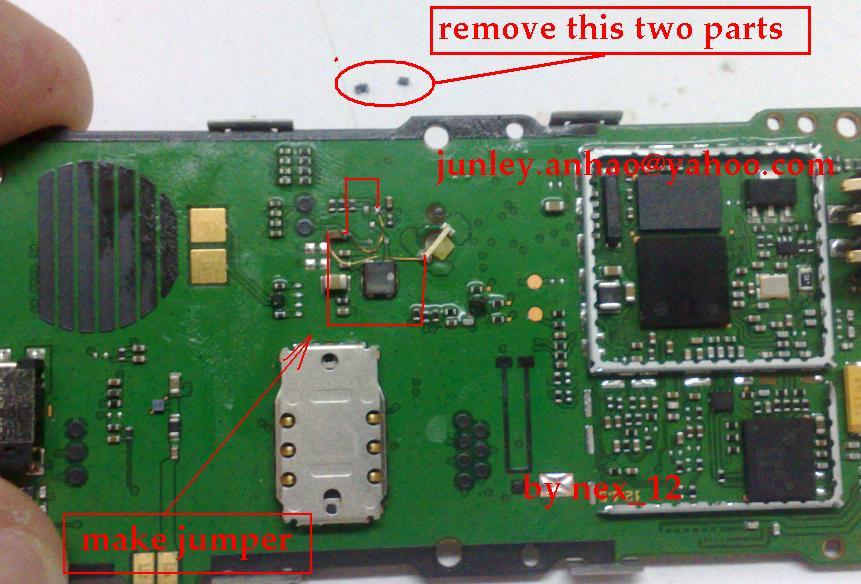 Nokia 1280 Display Light Problem Solved New Jumper