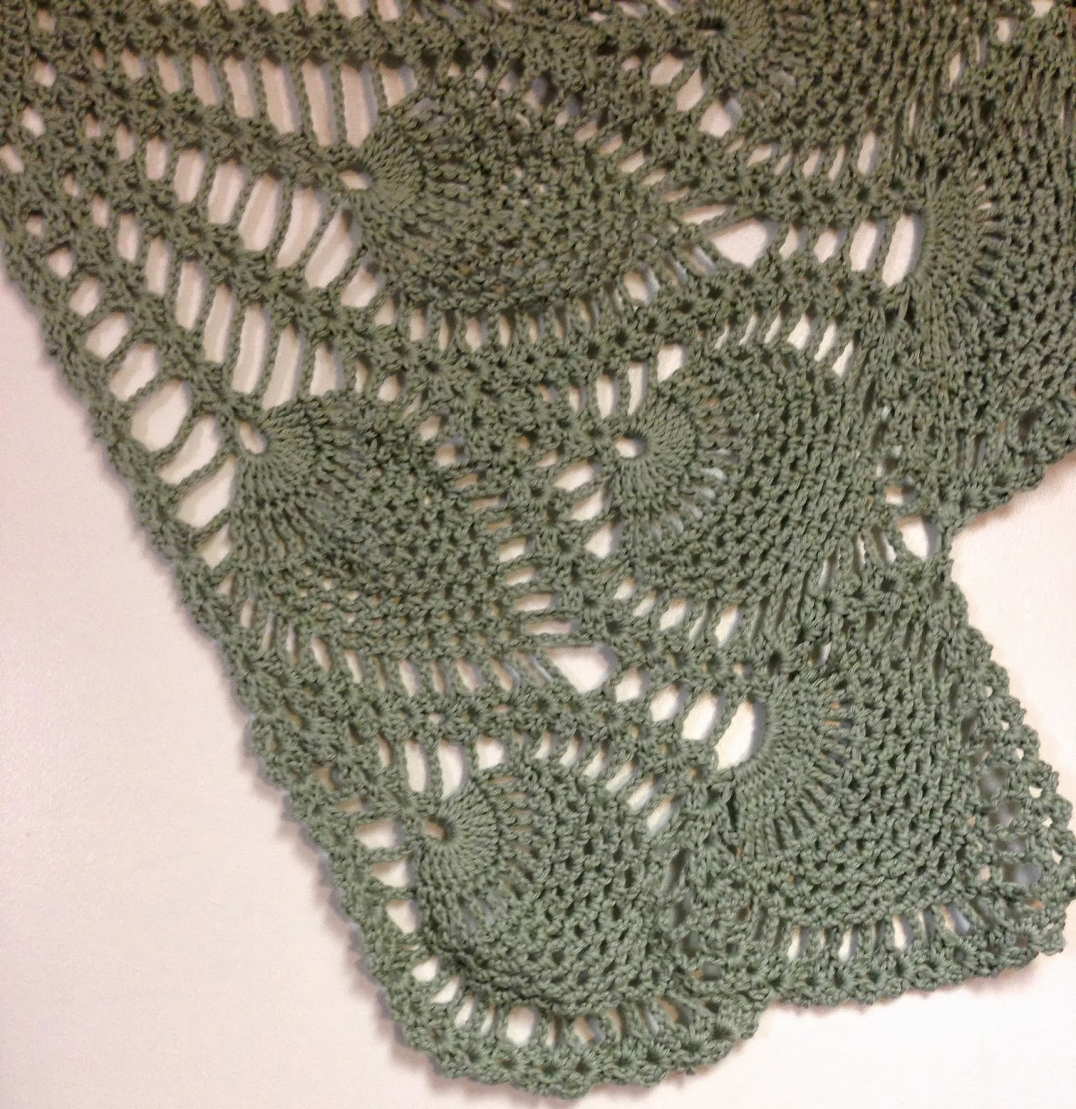 Images Of Crochet Pineapple Shawl Patterns Calto