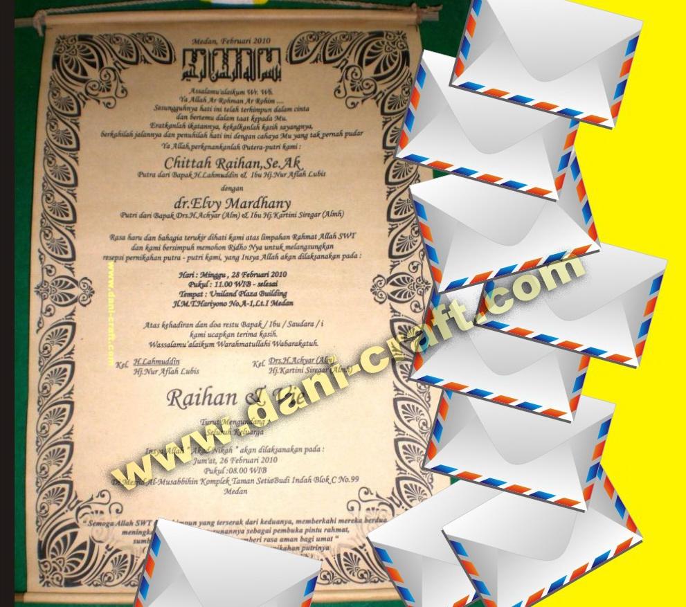 Surat Undangan, Contoh Surat Undangan Pernikahan