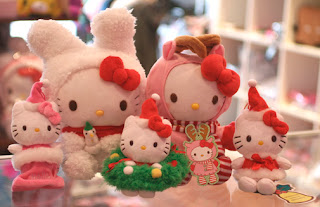 Hello Kitty plush soft toy collection for Christmas