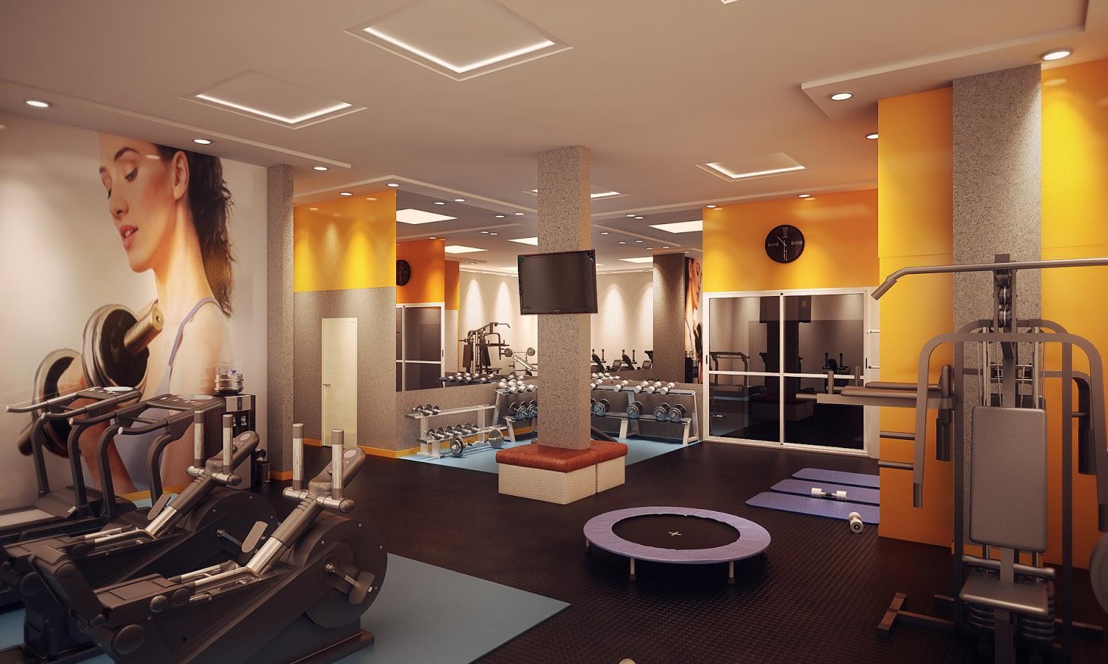 de interiores academias: Maquete Eletrônica 3D: Projeto Academia  #BC920F 1600 960