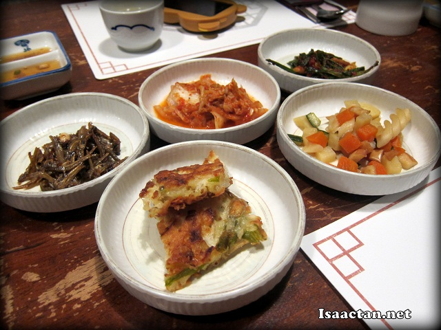 Part of the obligatory kim chi and side dishes for any authentic Korean meal