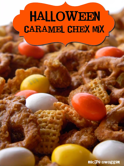 Halloween Caramel Chex Mix