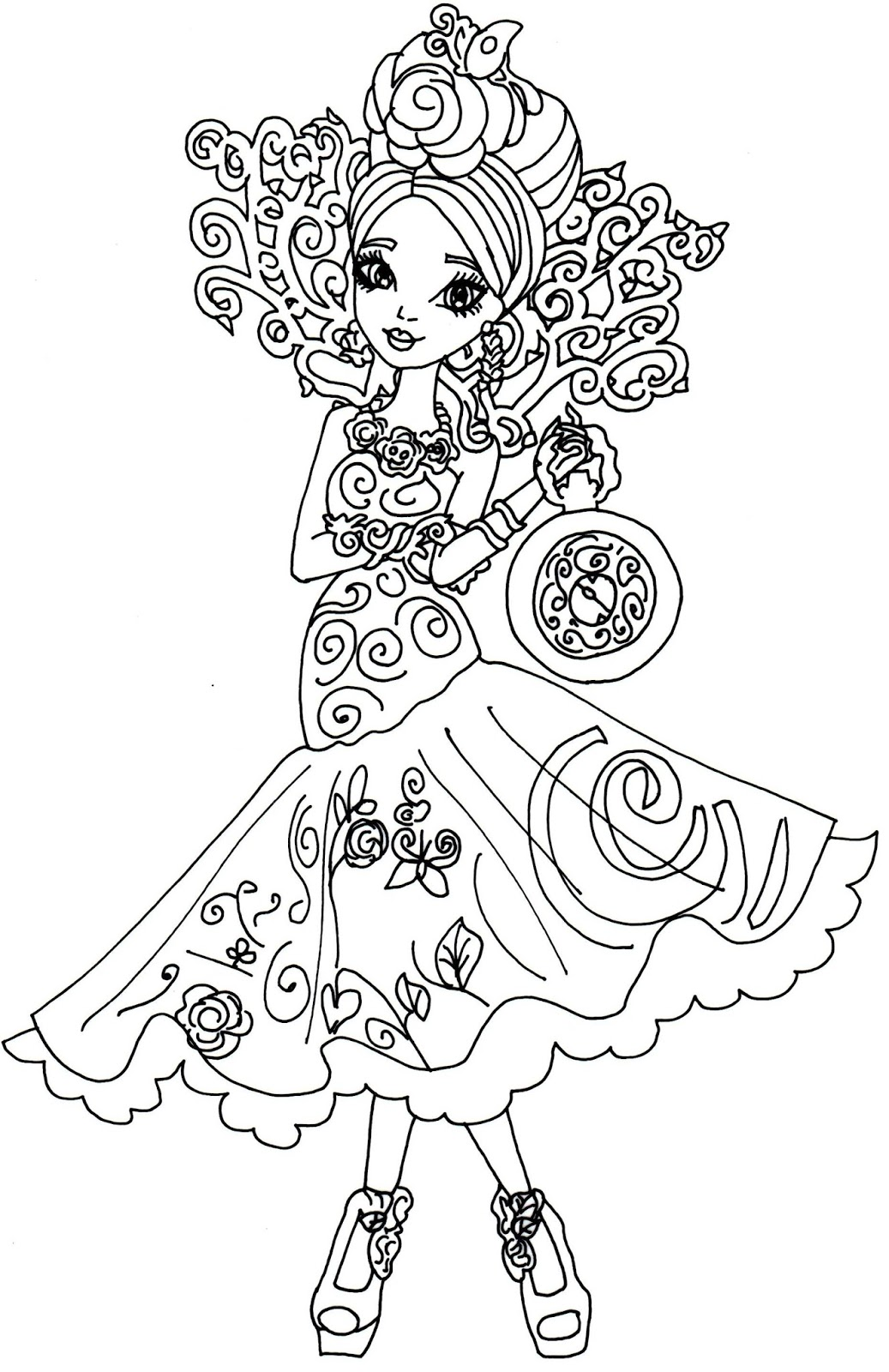 Printable coloring pages ever after high - Free Printable Ever After High Coloring Page For Briar Beauty In Way Too Wonderland