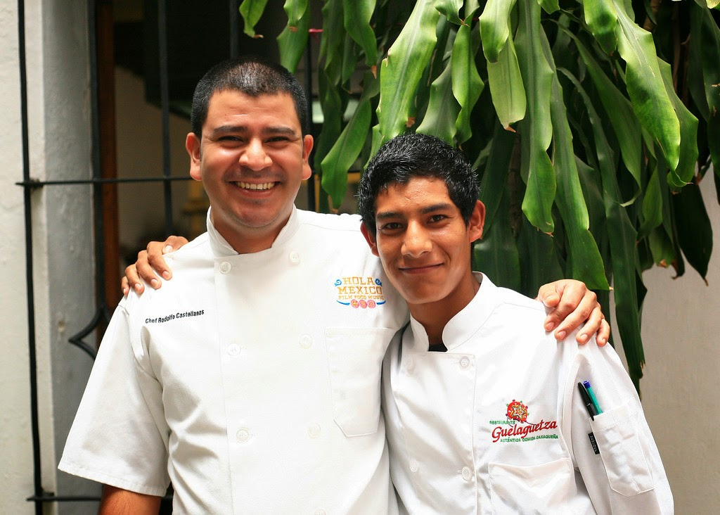 Chef Rodolfo with Patricio