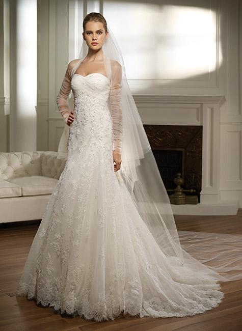 Best wedding ideas white lace wedding gowns for Lace white wedding dress