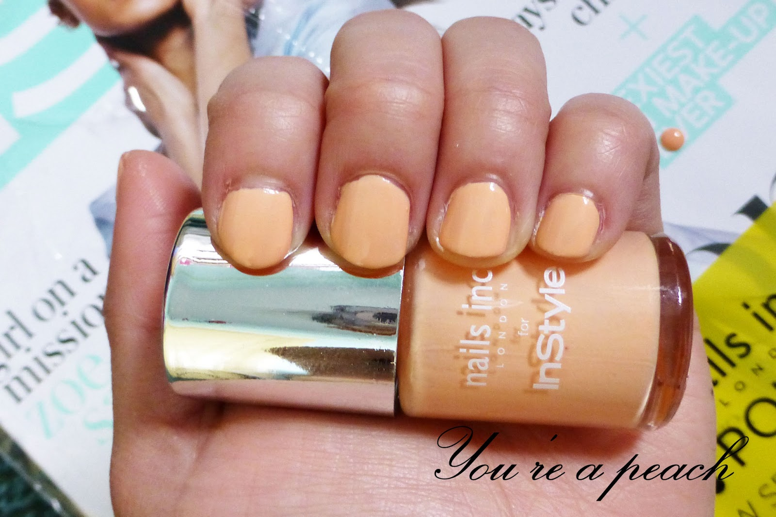 Nails Inc You\'re a Peach Nail polish - free with Instyle Magazine ...