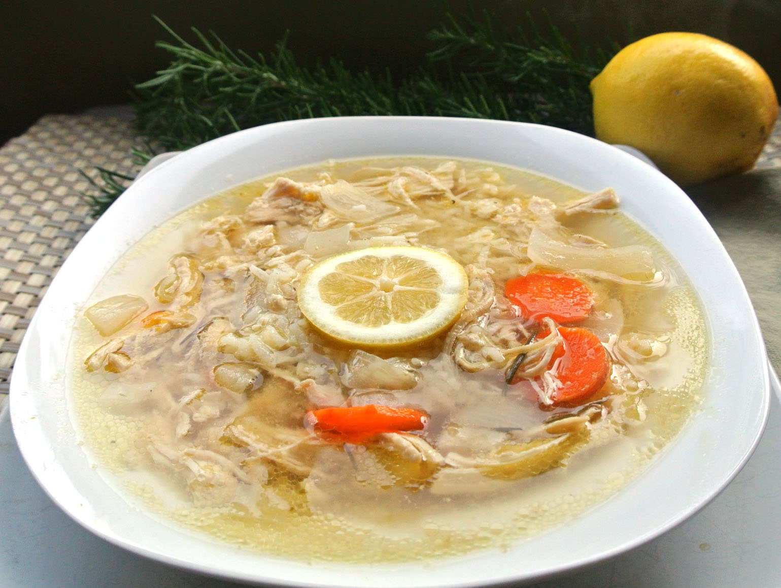 Mom, What's For Dinner?: Crockpot Lemon Chicken Rice Soup