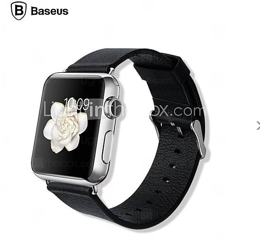 bracelet apple watch cuire noire baseus